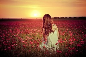 Contemplating Beautiful-field-flowers-girl-separate-with-comma-favim-com-217978