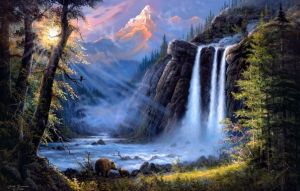 landscape-art-river-waterfall-bears-Favim.com-481595