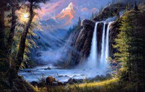 Appreciation… Landscape-art-river-waterfall-bears-favim-com-481595