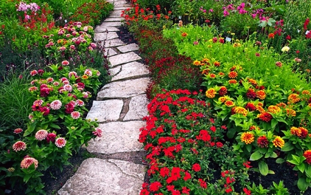 Choosing A Path And Staying On It… Beautiful-bright-flowers-garden-green-favim-com-120627