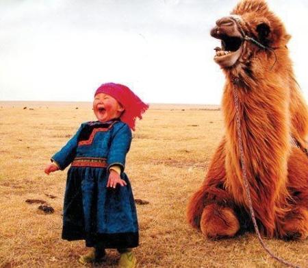 Laughter Lightens The World… Beautiful-sweet-camel-childhood-desert-favim-com-783835
